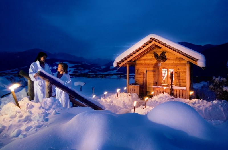 Alpin Panorama Hotel Hubertus ****s Il parco Alpenreych innevato