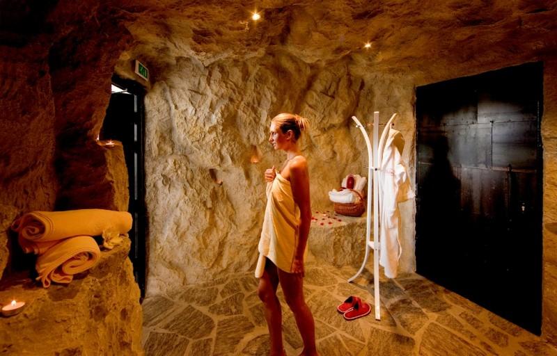 Alpin Panorama Hotel Hubertus ****s  Dolomites steam bath in grotto