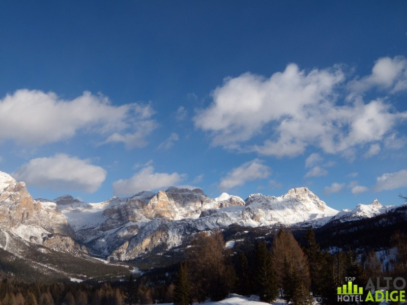 Alta Badia Dolomites in winter