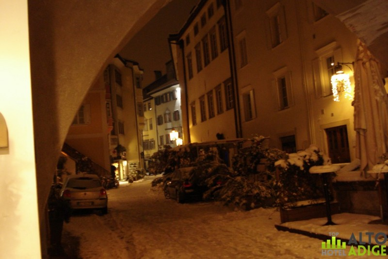 Via Streiter - the center of Bolzano under the snow
