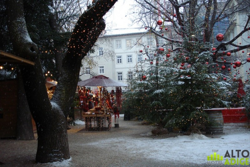 Splendid view of the enchanted forest of Palais Campofranco to the Christmas markets in Bolzano Piazza Walther