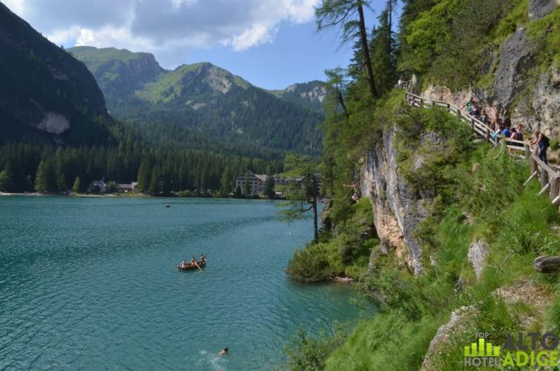 The Braies lake