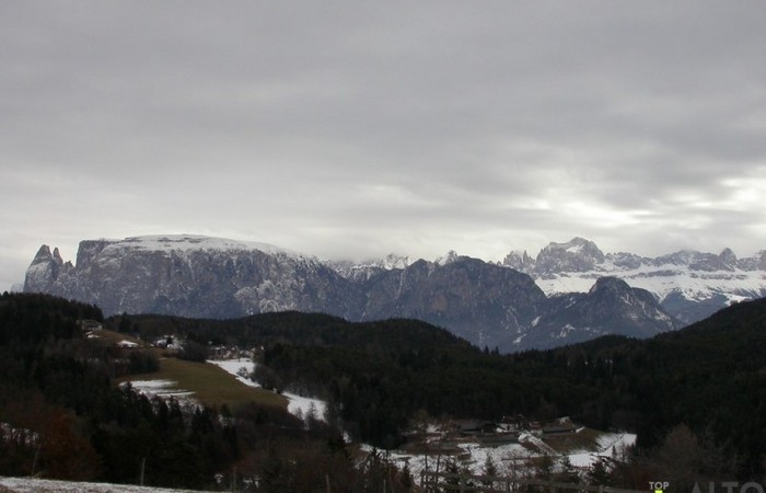 Fotogalerie Südtirol Blick vom Ritten von Schlern und Rosengarten