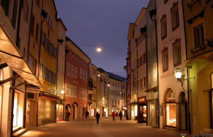 Fotogalerie Südtirol Bruneck Geschäften zu Weihnachten