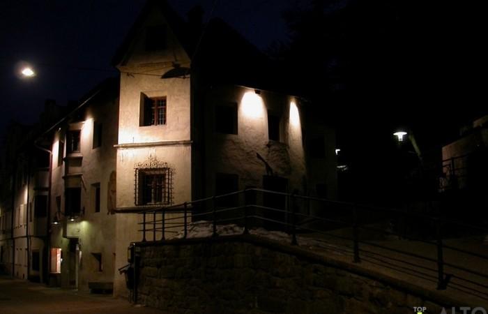 Galleria Fotografica Alto Adige Suggestivo scorcio di Brunico in inverno