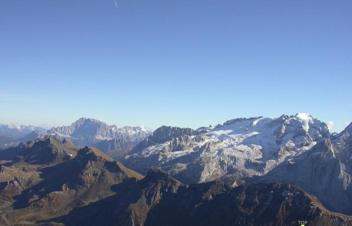 Fotogalerie Südtirol Blick auf die Marmolada zu Pordoijoch