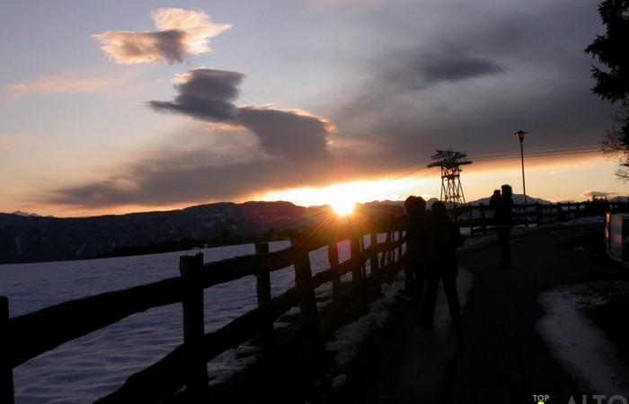 Fotogalerie Südtirol Rittner Seilbahn bei Sonnenuntergang